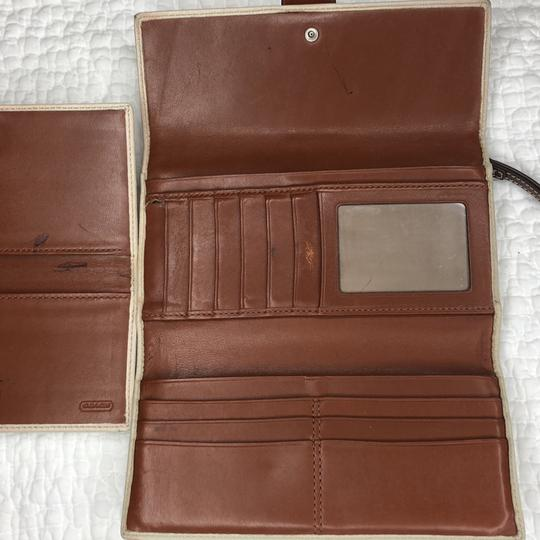 Coach Trifold Leather Wallet with Checkbook Register and Belt Image 6