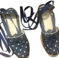 Ralph Lauren Collection Dotted Navy Blue Sandals Image 0