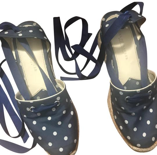 Preload https://img-static.tradesy.com/item/24623104/ralph-lauren-collection-dotted-navy-blue-lace-up-espadrilles-wedge-sandals-size-us-75-regular-m-b-0-1-540-540.jpg