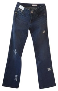 Roots & Wings Vintage Denim Refashioned Distressed Christian Straight Leg Jeans-Distressed