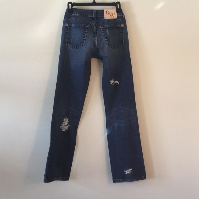 Roots & Wings Vintage Denim Refashioned Distressed Christian Straight Leg Jeans-Distressed Image 1