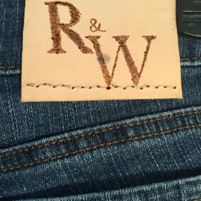 Roots & Wings Vintage Denim Refashioned Distressed Christian Straight Leg Jeans-Distressed Image 2