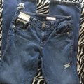 Roots & Wings Vintage Denim Refashioned Distressed Christian Straight Leg Jeans-Distressed Image 5