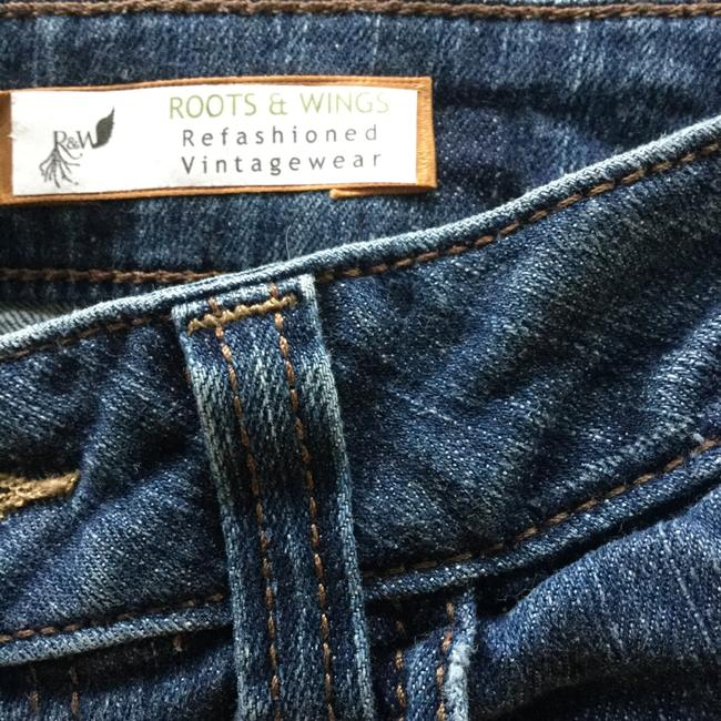 Roots & Wings Vintage Denim Refashioned Distressed Christian Straight Leg Jeans-Distressed Image 7