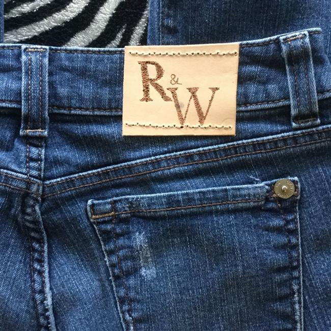 Roots & Wings Vintage Denim Refashioned Distressed Christian Straight Leg Jeans-Distressed Image 8