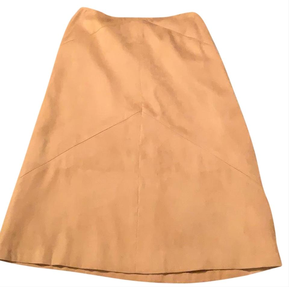 645f1e6a4a Talbots Tan Brushed Suede -kb4 Skirt Size Petite 8 (M) - Tradesy