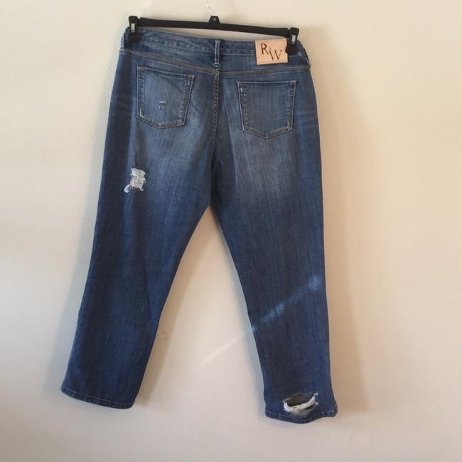 Roots & Wings Vintage Distressed Refashioned Christian Capri/Cropped Denim-Distressed Image 2
