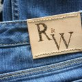 Roots & Wings Vintage Distressed Refashioned Christian Capri/Cropped Denim-Distressed Image 3