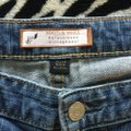 Roots & Wings Vintage Distressed Refashioned Christian Capri/Cropped Denim-Distressed Image 4