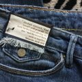 Roots & Wings Vintage Distressed Refashioned Christian Capri/Cropped Denim-Distressed Image 5