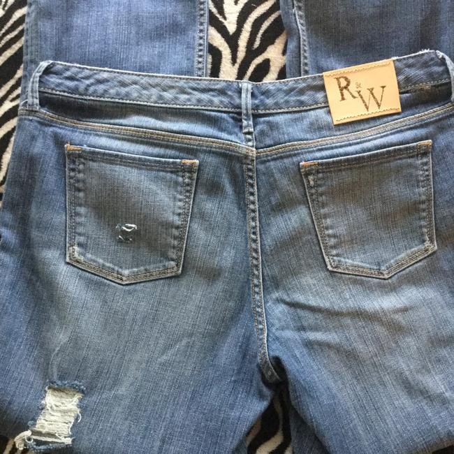 Roots & Wings Vintage Distressed Refashioned Christian Capri/Cropped Denim-Distressed Image 7