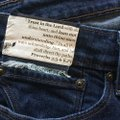 Roots & Wings Vintage Refashioned Denim Distressed Christian Straight Leg Jeans-Distressed Image 3