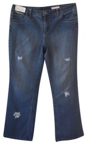 Roots & Wings Vintage Refashioned Denim Distressed Christian Straight Leg Jeans-Distressed