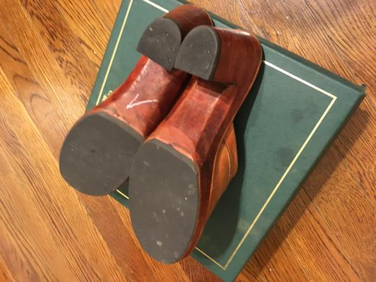 Thom McAn Leather Vintage Imported Tan Mules Image 2