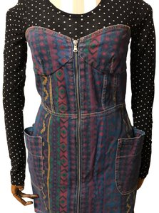 Marc by Marc Jacobs short dress navy blue purple green yellow on Tradesy