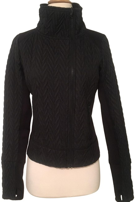 Preload https://img-static.tradesy.com/item/24623252/cynthia-rowley-black-quilted-sweaterjacket-activewear-size-4-s-0-1-650-650.jpg