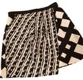 Peter Pilotto Mini Skirt Black and Cream Image 0