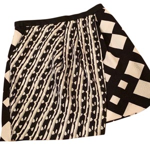 Peter Pilotto Mini Skirt Black and Cream