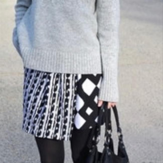 Peter Pilotto Mini Skirt Black and Cream Image 2