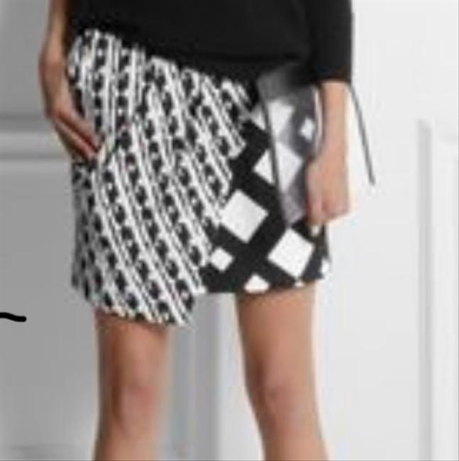 Peter Pilotto Mini Skirt Black and Cream Image 6