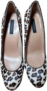Ann Taylor Haircalf Leopard Heels Pale Camel Pumps