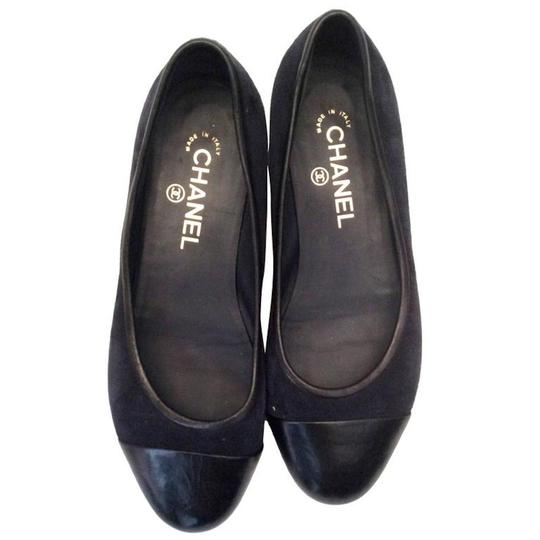 Chanel Navy Blue Flats Image 1