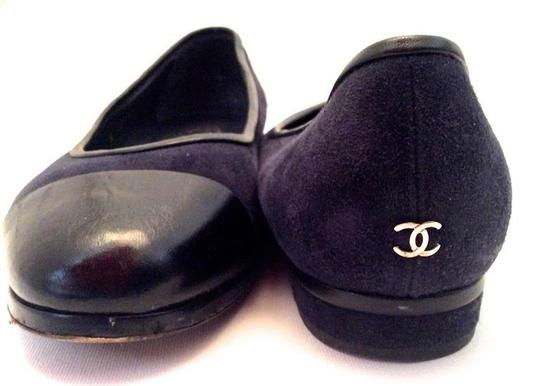 Chanel Navy Blue Flats Image 3