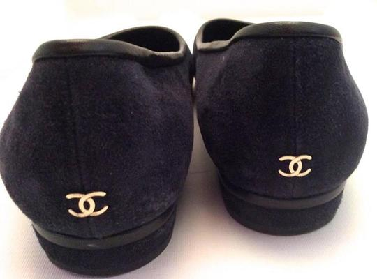 Chanel Navy Blue Flats Image 5