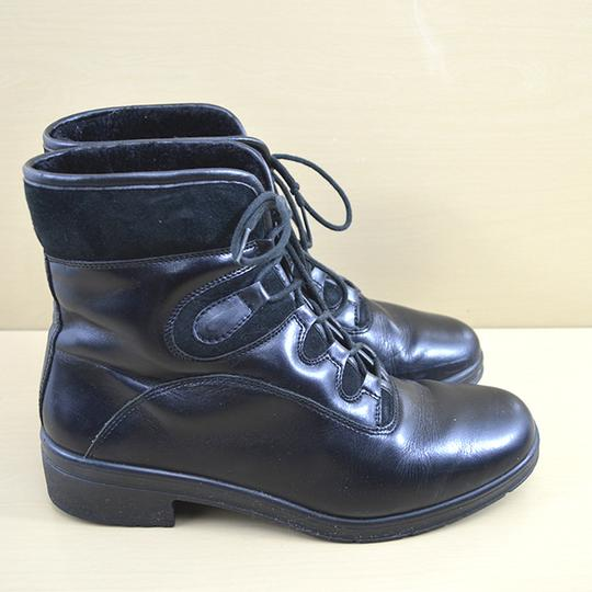 Spring Step Leather Fall Winter Comfortable Black Boots Image 2