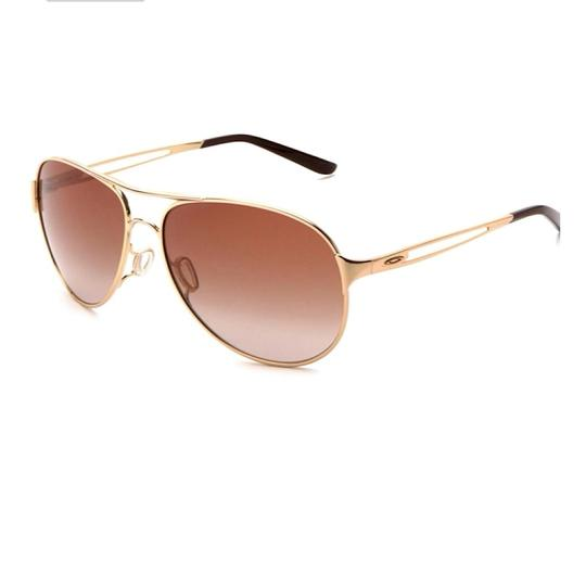 Oakley Caveat Aviator Gold Frame with Brown Gradient Lenses Image 1
