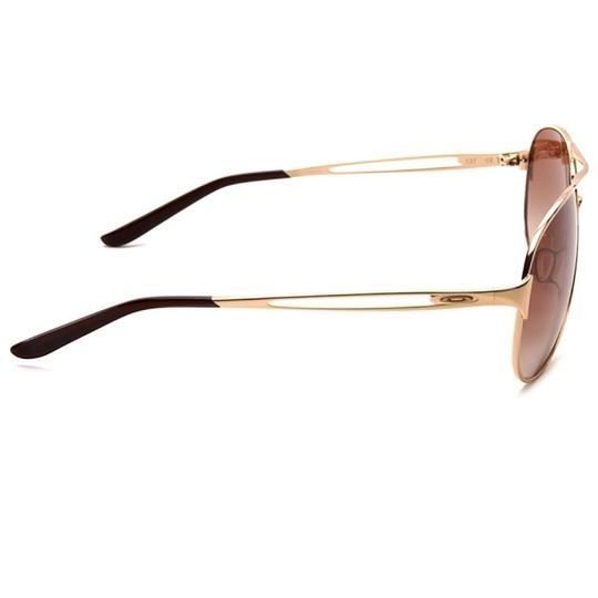 Oakley Caveat Aviator Gold Frame with Brown Gradient Lenses Image 2