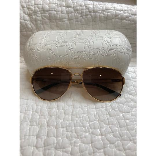 Oakley Caveat Aviator Gold Frame with Brown Gradient Lenses Image 3