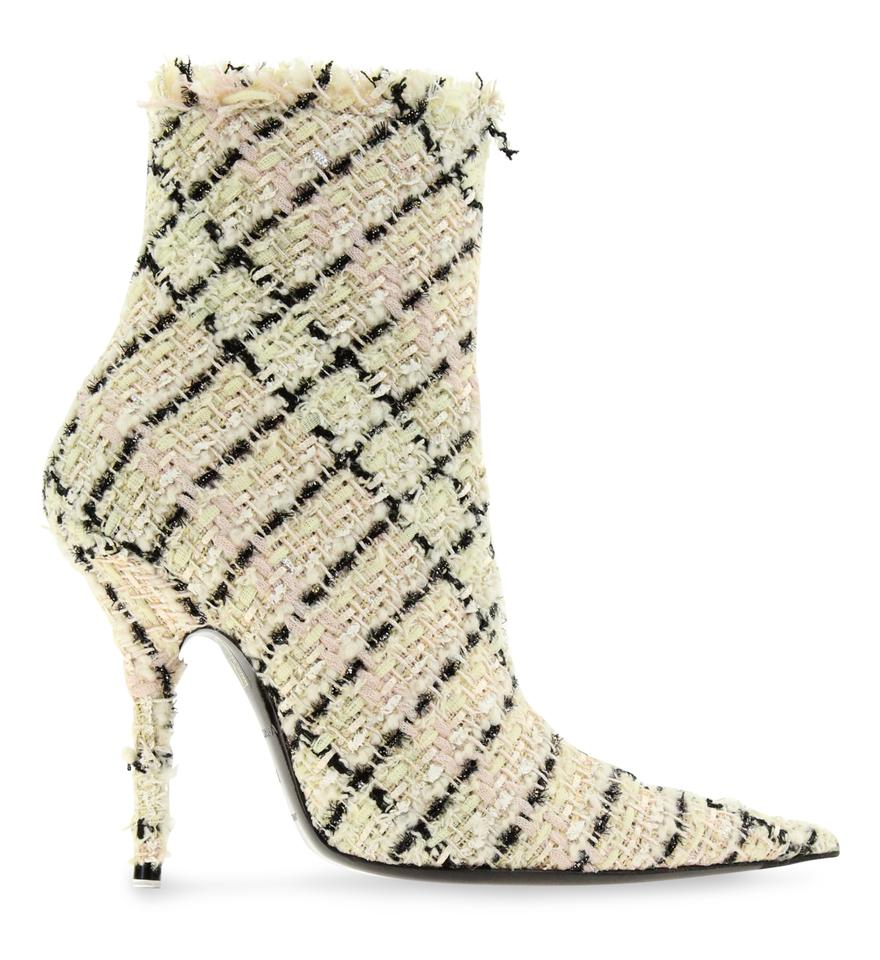 c42b04489480 Balenciaga Multicolor Tweed Ankle Boots Booties Size EU 38 (Approx ...
