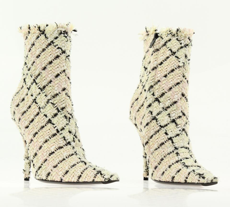 858bb5214d3b Balenciaga Multicolor Tweed Ankle Boots Booties Size EU 38 (Approx. US 8)  Regular (M