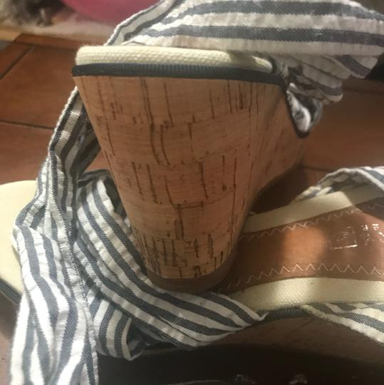 Sperry Blue & White Stripes Wedges Image 1