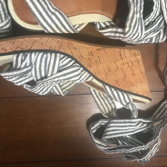 Sperry Blue & White Stripes Wedges Image 2