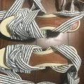 Sperry Blue & White Stripes Wedges Image 3