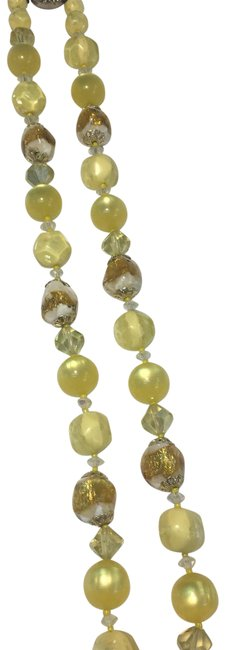 Item - Yellow & Gold Glass Bead Necklace