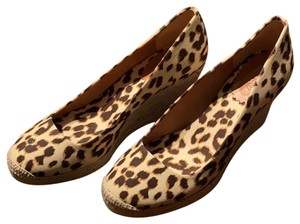 J.Crew Leopard (Brown/Tan) Wedges