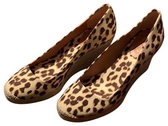 J.Crew Leopard (Brown/Tan) Wedges Image 0
