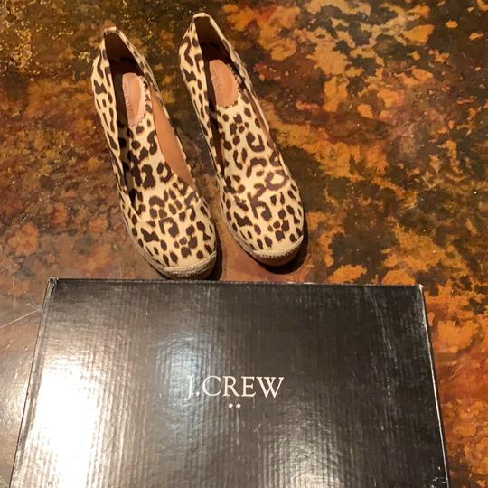 J.Crew Leopard (Brown/Tan) Wedges Image 5