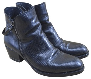 I.N.K. Fall Winter Holiday Leather Black Boots