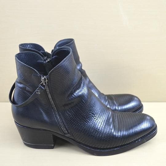I.N.K. Fall Winter Holiday Leather Black Boots Image 2