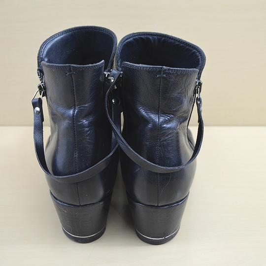 I.N.K. Fall Winter Holiday Leather Black Boots Image 3