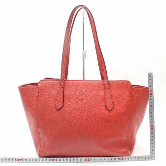 Gucci Swing Wing Marmont Sylvie Dionysus Tote in Red Image 5