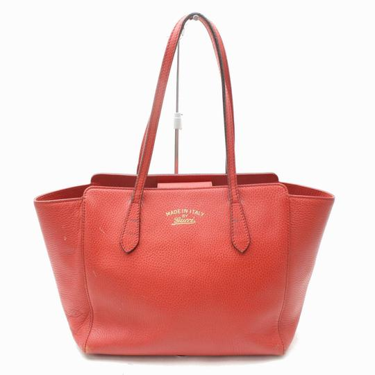 Gucci Swing Wing Marmont Sylvie Dionysus Tote in Red Image 9