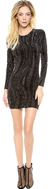 Preload https://img-static.tradesy.com/item/24623697/torn-by-ronny-kobo-black-and-gold-zoe-lurex-bodycon-short-night-out-dress-size-2-xs-0-1-650-650.jpg