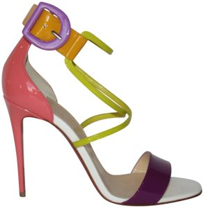 Christian Louboutin Red Sole With Box Buckle Multicolor Sandals