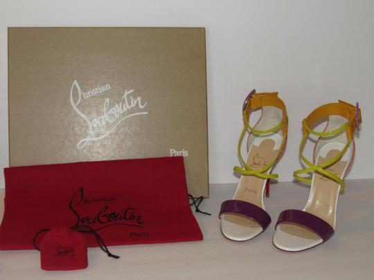 Christian Louboutin Red Sole With Box Buckle Multicolor Sandals Image 1