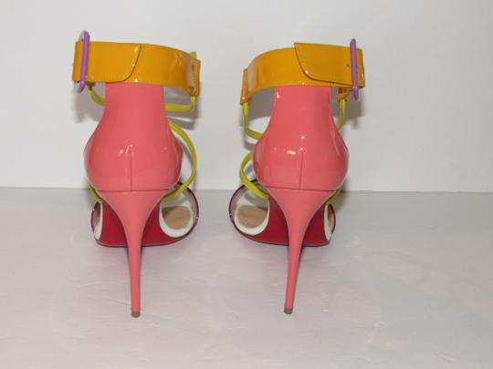 Christian Louboutin Red Sole With Box Buckle Multicolor Sandals Image 2
